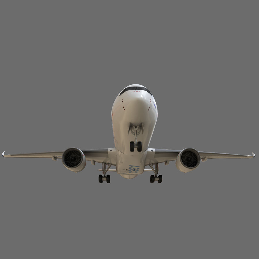 Airbus A350 - 900 royalty-free 3d model - Preview no. 14
