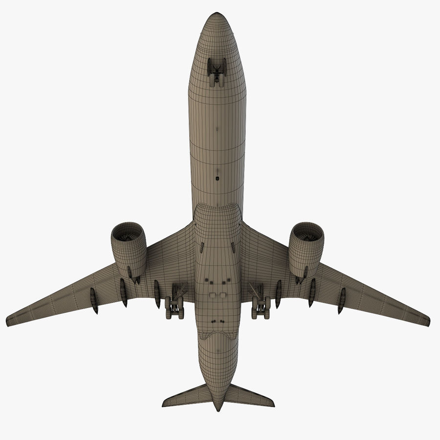 Airbus A350 - 900 royalty-free 3d model - Preview no. 27