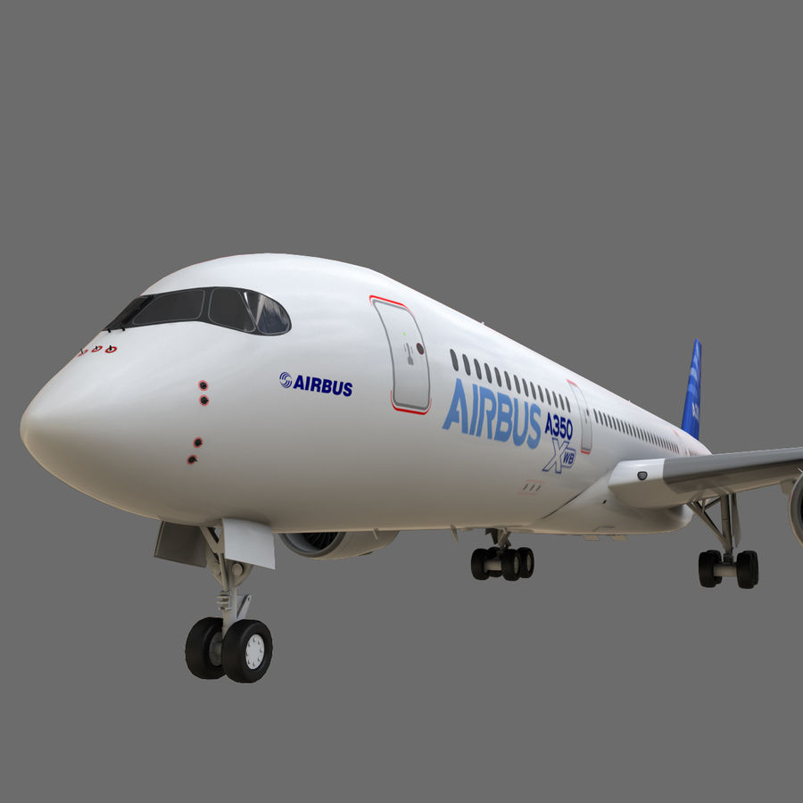 Airbus A350 - 900 royalty-free 3d model - Preview no. 18