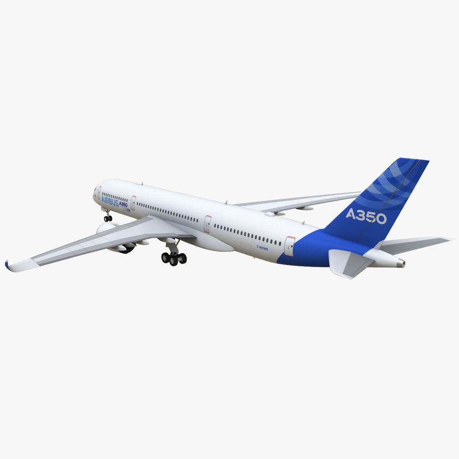Airbus A350 - 900 royalty-free 3d model - Preview no. 5