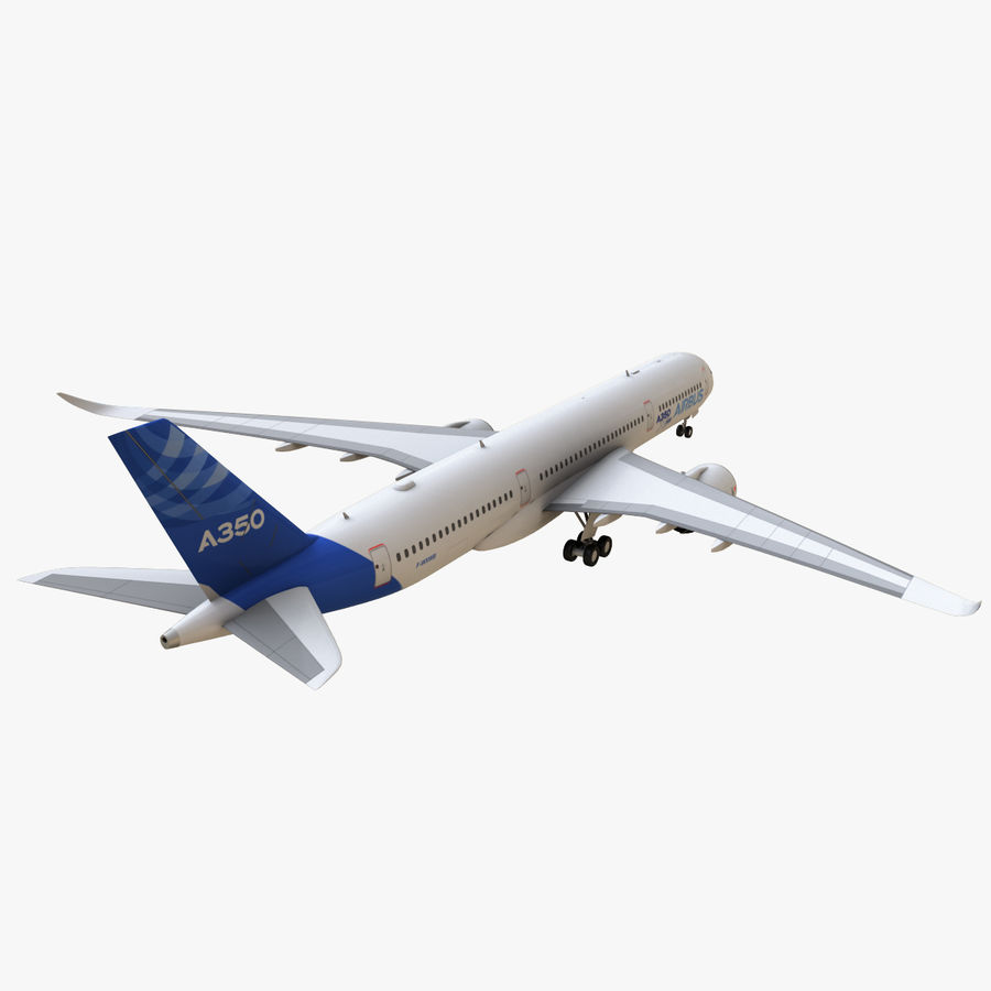 Airbus A350 - 900 royalty-free 3d model - Preview no. 7