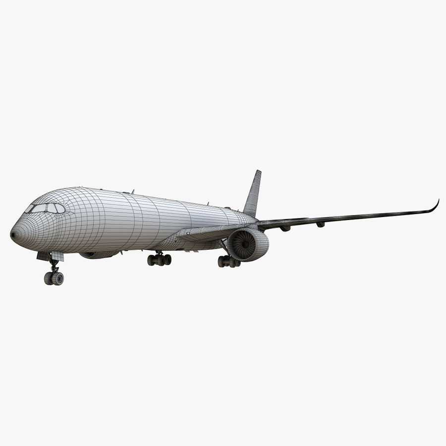 Airbus A350 - 900 royalty-free 3d model - Preview no. 25