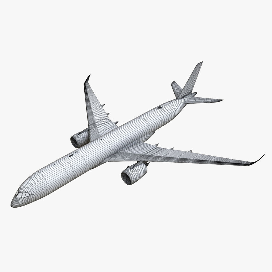 Airbus A350 - 900 royalty-free 3d model - Preview no. 31