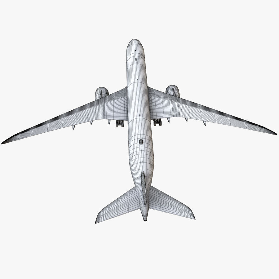 Airbus A350 - 900 royalty-free 3d model - Preview no. 23