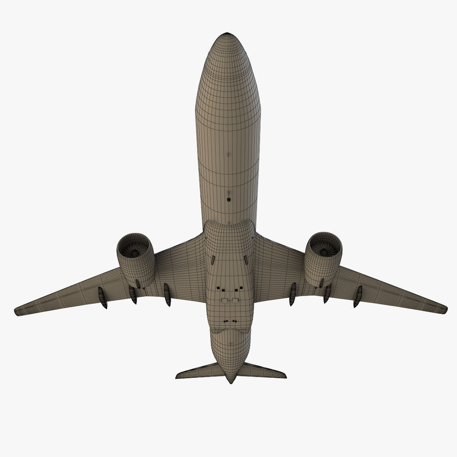 Airbus A350 - 900 royalty-free 3d model - Preview no. 29