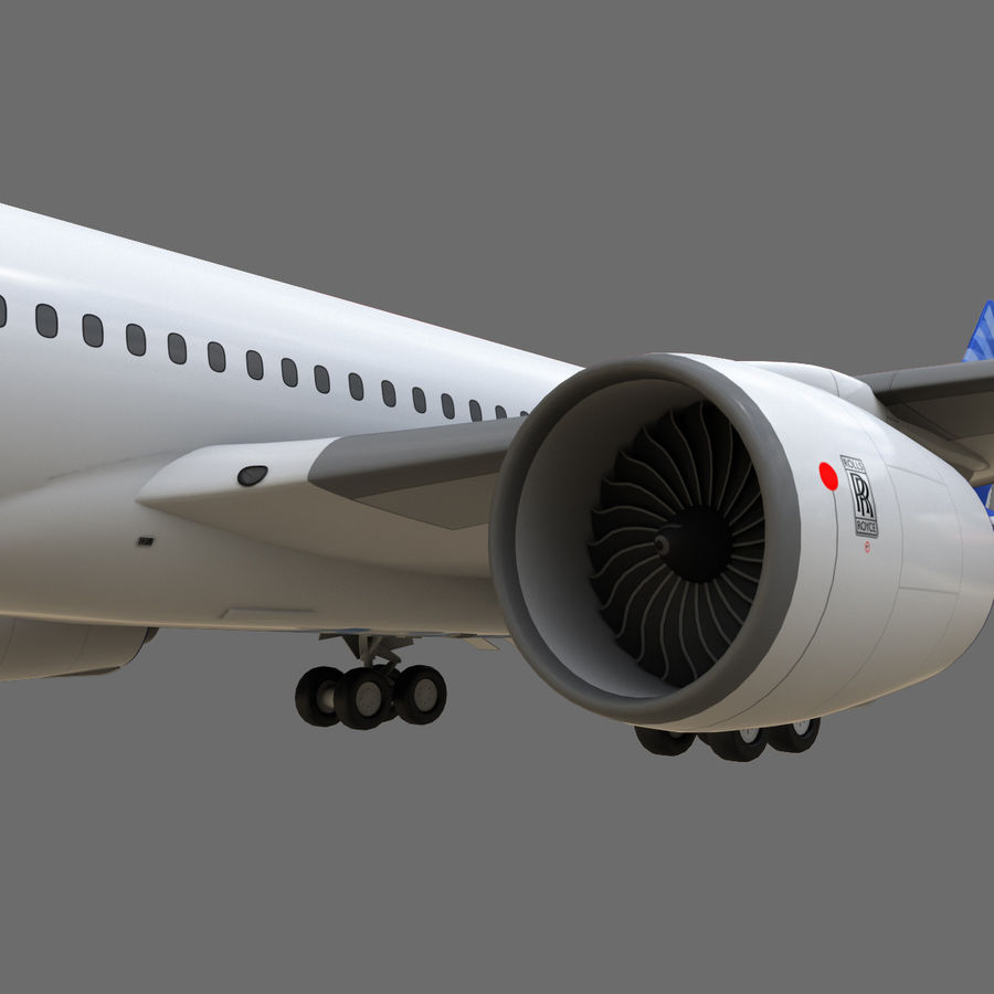 Airbus A350 - 900 royalty-free 3d model - Preview no. 20