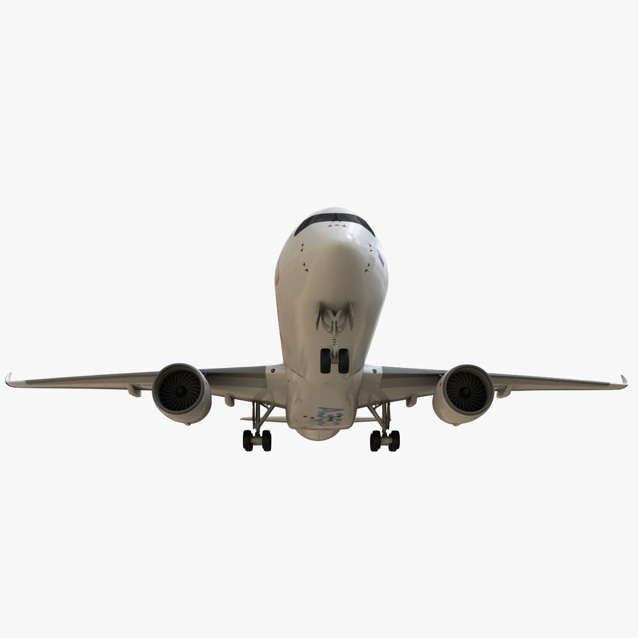 Airbus A350 - 900 royalty-free 3d model - Preview no. 15