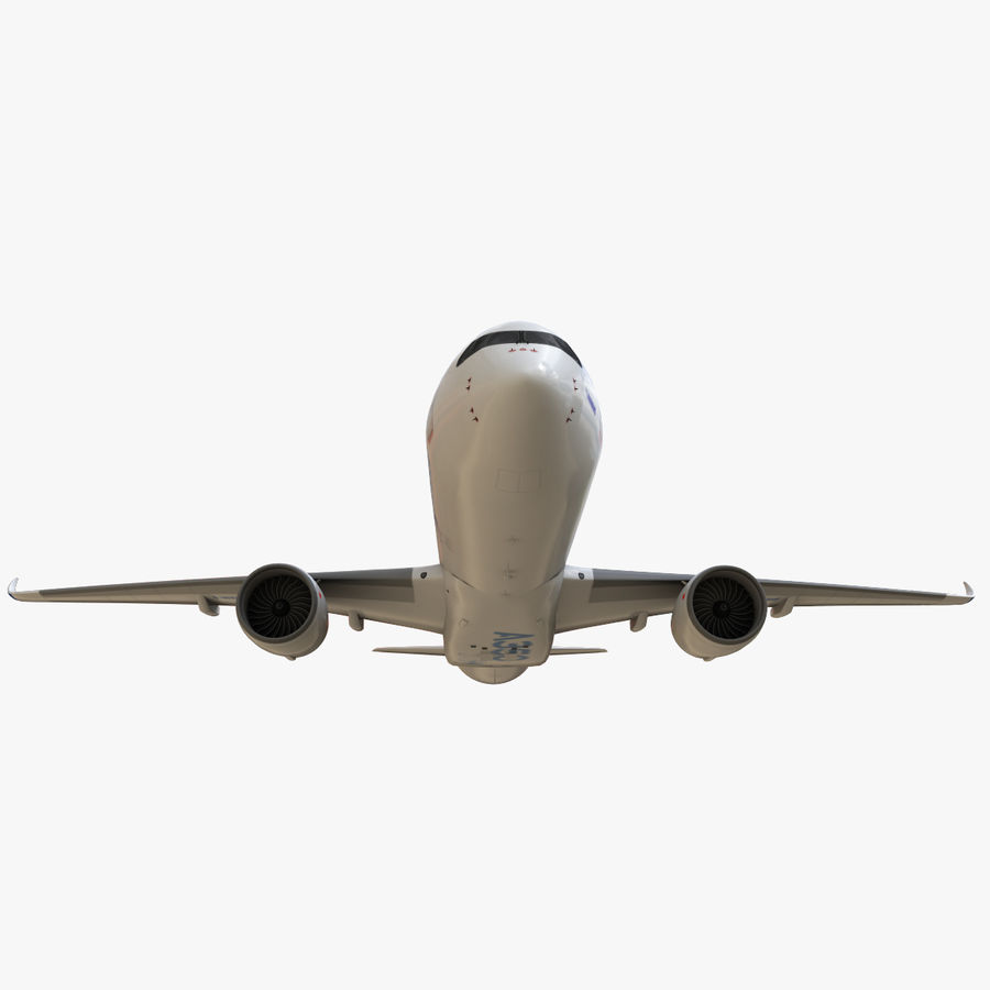 Airbus A350 - 900 royalty-free 3d model - Preview no. 13