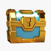 Gouden kist 3d model