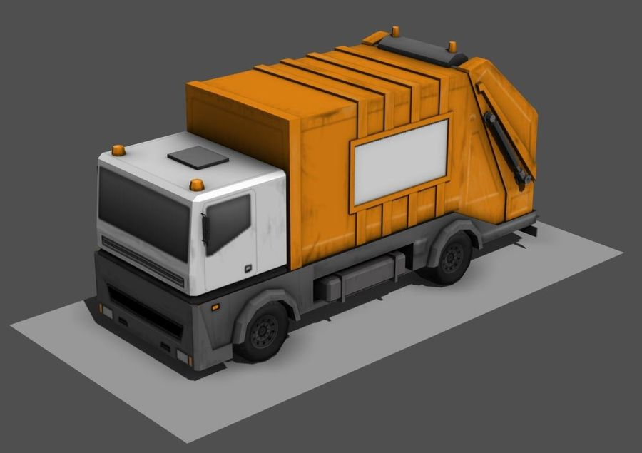 Garbage Truck royalty-free 3d model - Preview no. 1
