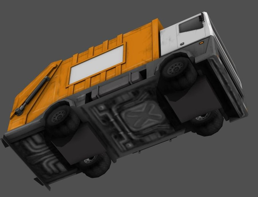 Garbage Truck royalty-free 3d model - Preview no. 3