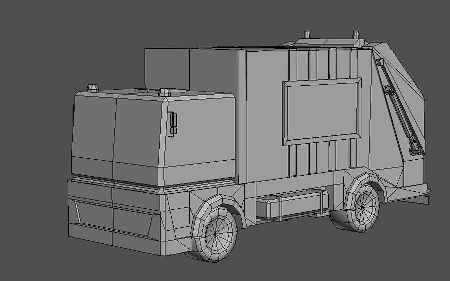 Garbage Truck royalty-free 3d model - Preview no. 6