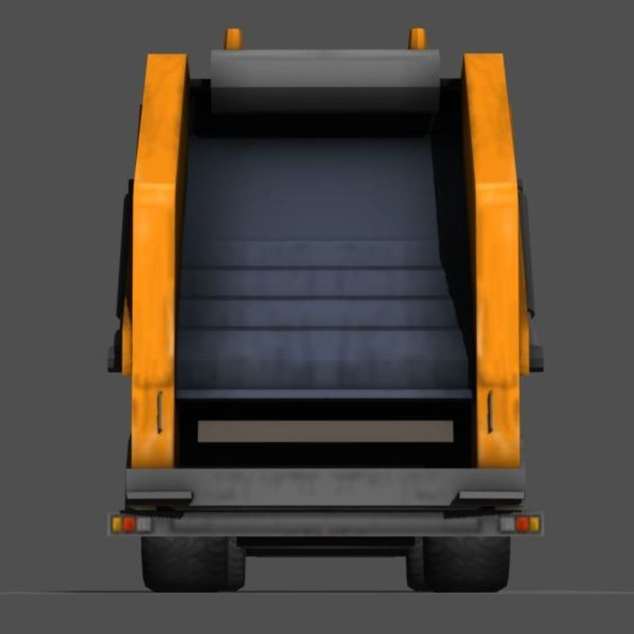 Garbage Truck royalty-free 3d model - Preview no. 5