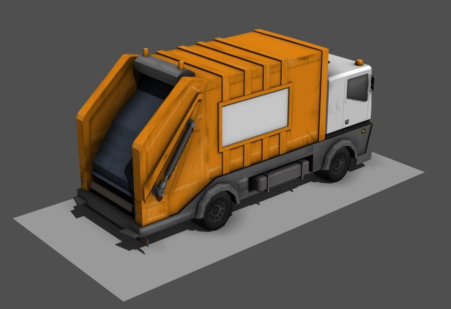 Garbage Truck royalty-free 3d model - Preview no. 2