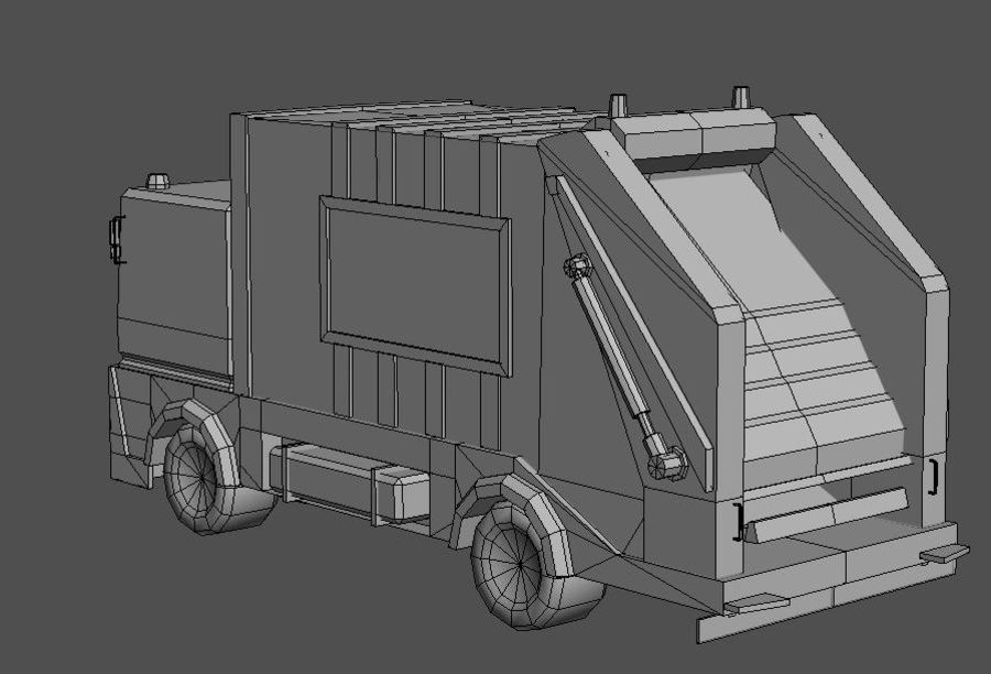 Garbage Truck royalty-free 3d model - Preview no. 7
