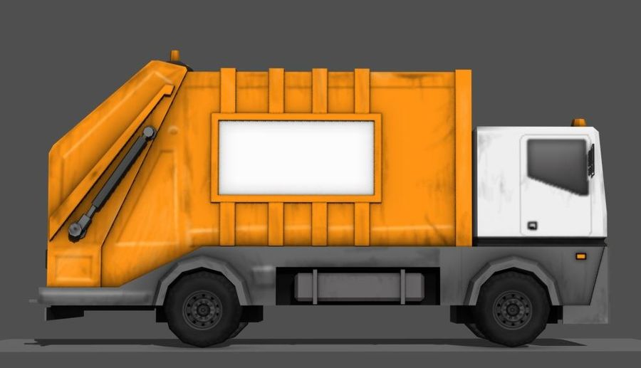 Garbage Truck royalty-free 3d model - Preview no. 4