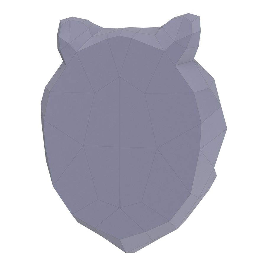Lion Head Papercraft royalty-free 3d model - Preview no. 7