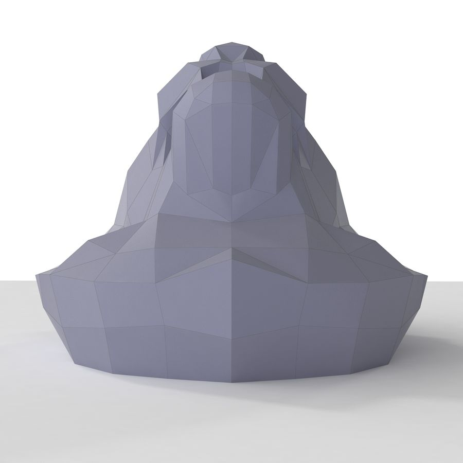 Lion Head Papercraft royalty-free 3d model - Preview no. 6