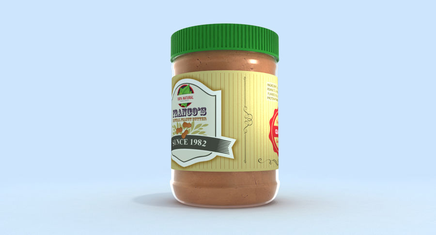 Peanut Butter royalty-free 3d model - Preview no. 4