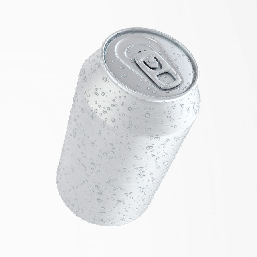Can With Water Drops 330ml royalty-free 3d model - Preview no. 1