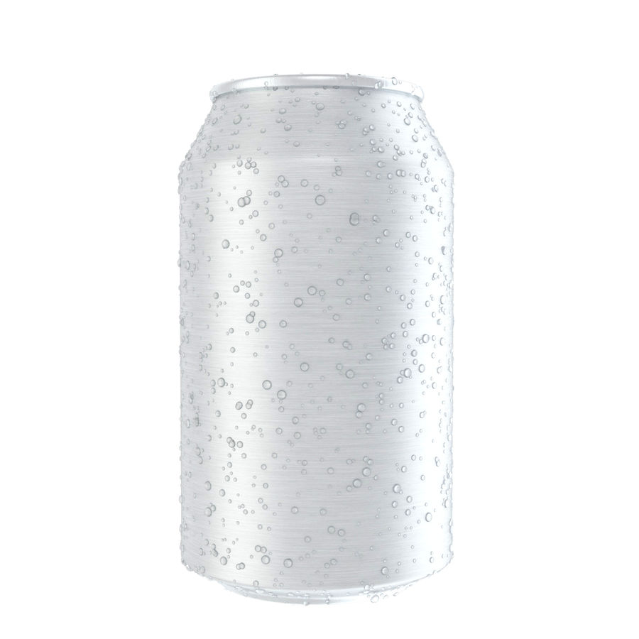 Can With Water Drops 330ml royalty-free 3d model - Preview no. 3