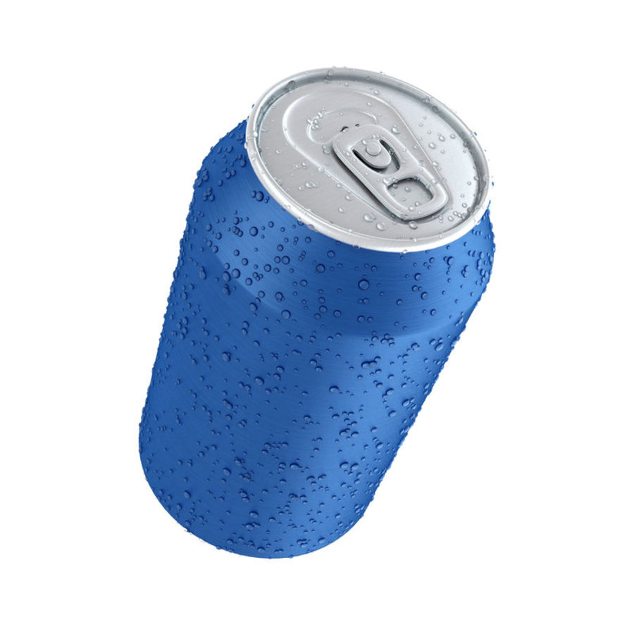 Can With Water Drops 330ml royalty-free 3d model - Preview no. 4