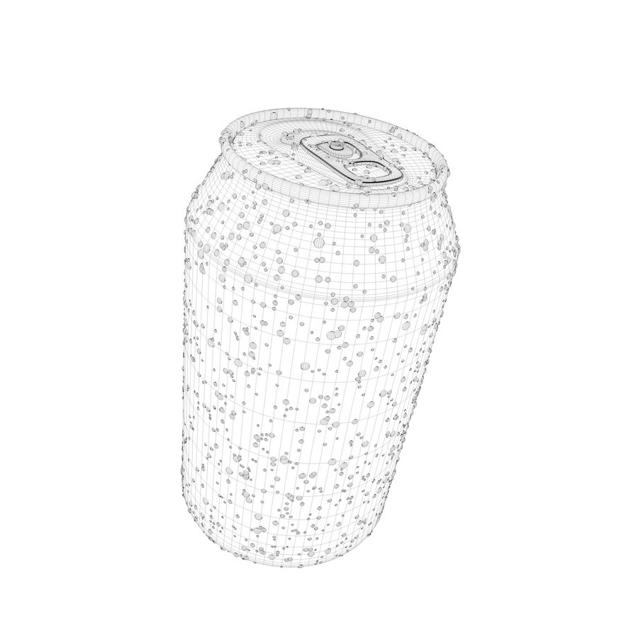Can With Water Drops 330ml royalty-free 3d model - Preview no. 7