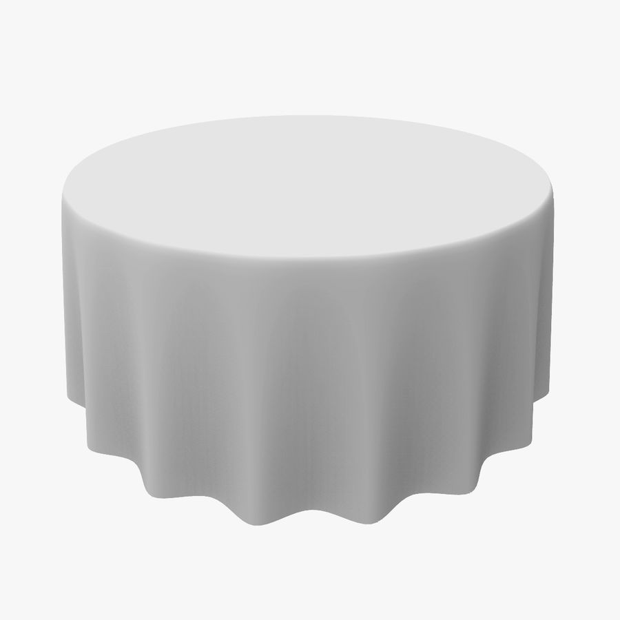Round Tablecloth royalty-free 3d model - Preview no. 1