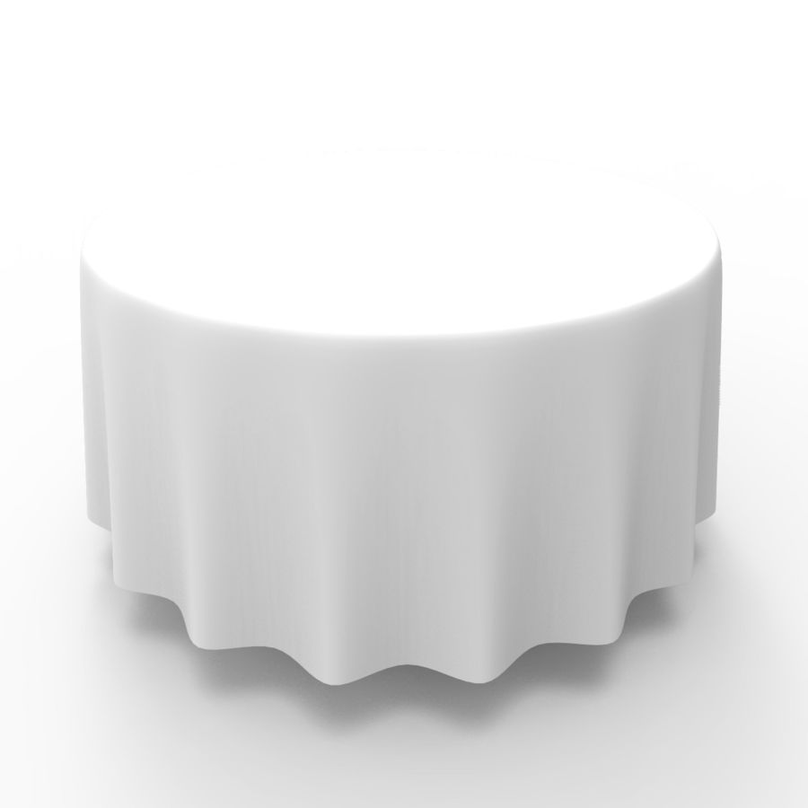 Round Tablecloth royalty-free 3d model - Preview no. 5
