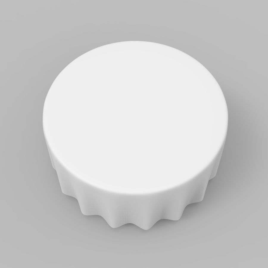 Round Tablecloth royalty-free 3d model - Preview no. 3