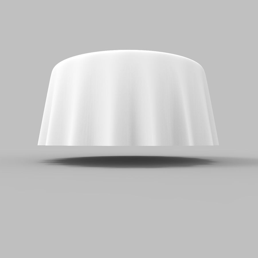 Round Tablecloth royalty-free 3d model - Preview no. 4