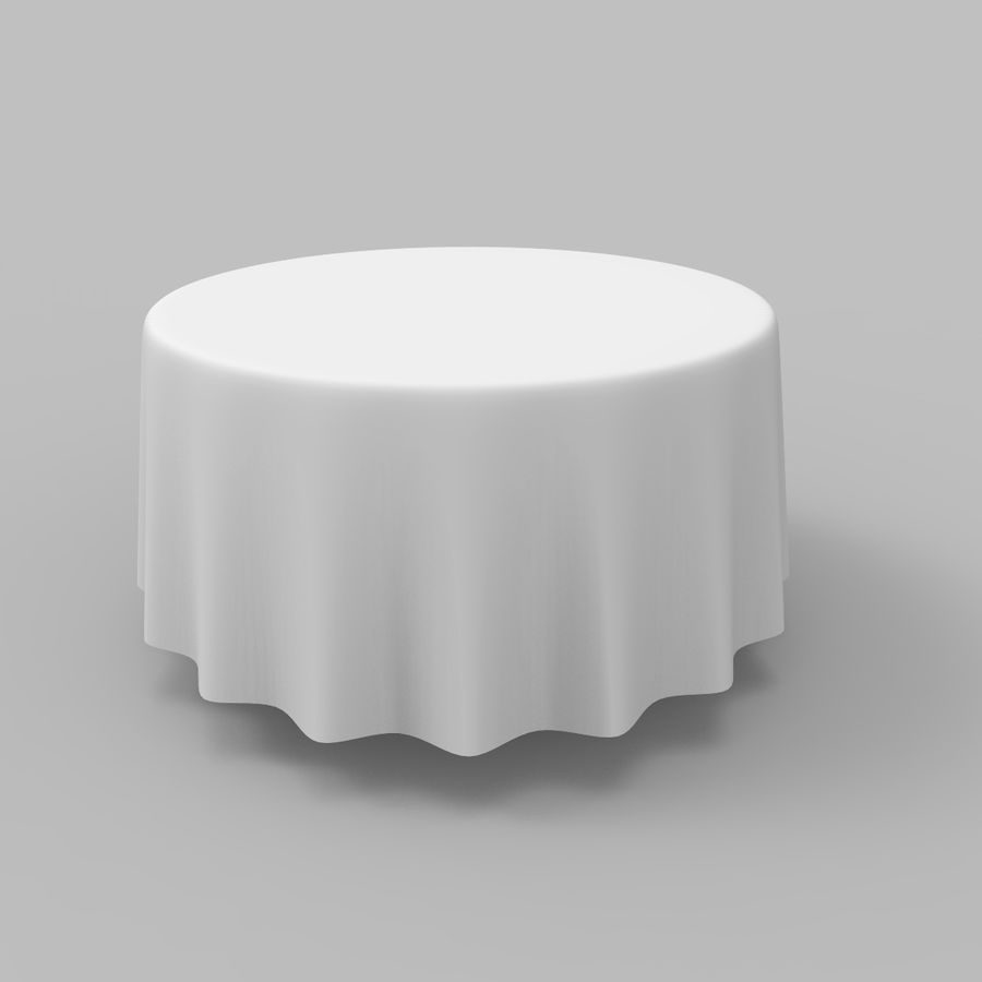 Round Tablecloth royalty-free 3d model - Preview no. 2