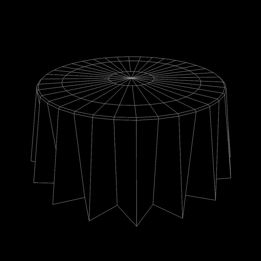 Round Tablecloth royalty-free 3d model - Preview no. 7