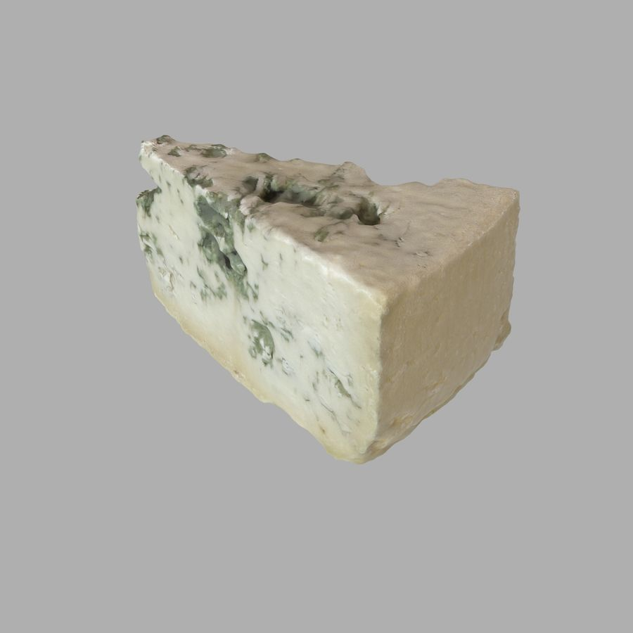 Niva cheese royalty-free 3d model - Preview no. 2