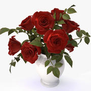 roses red bouquet 3d model