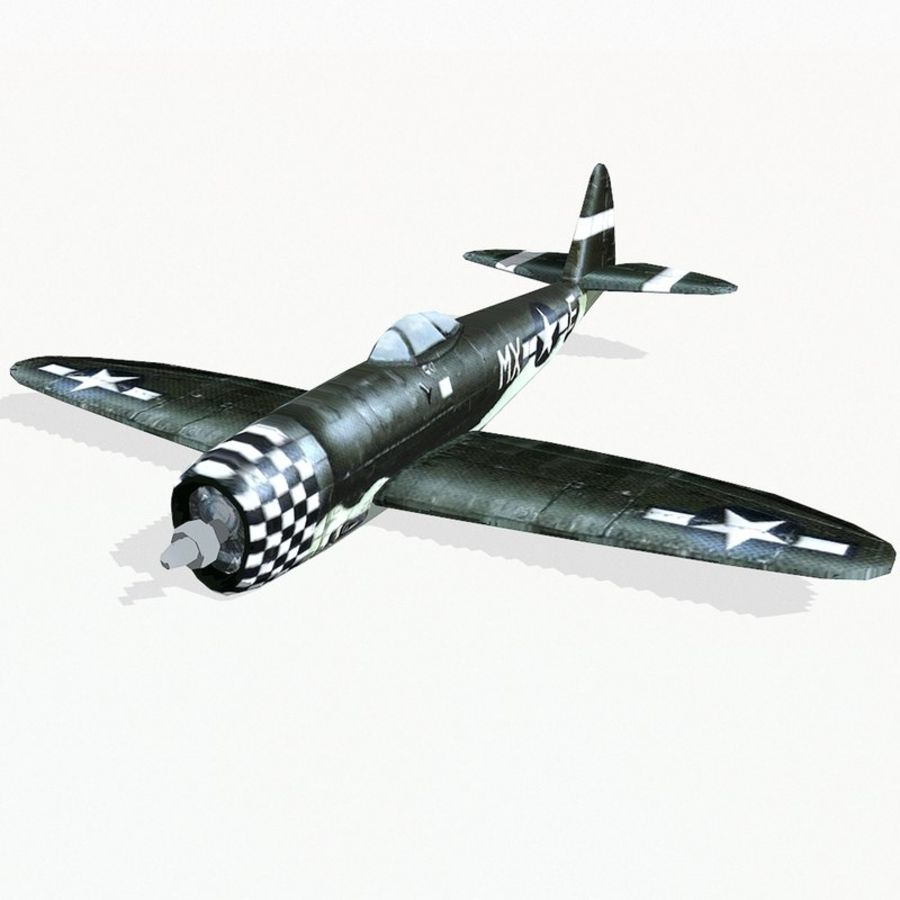 P-47 Thunderbolt royalty-free 3d model - Preview no. 2