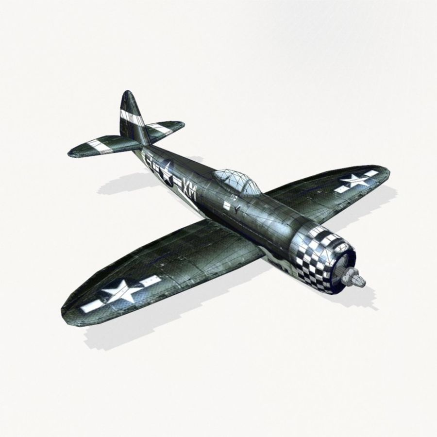 P-47 Thunderbolt royalty-free 3d model - Preview no. 13