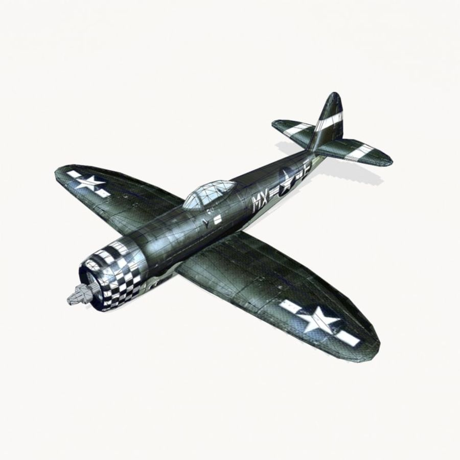 P-47 Thunderbolt royalty-free 3d model - Preview no. 10