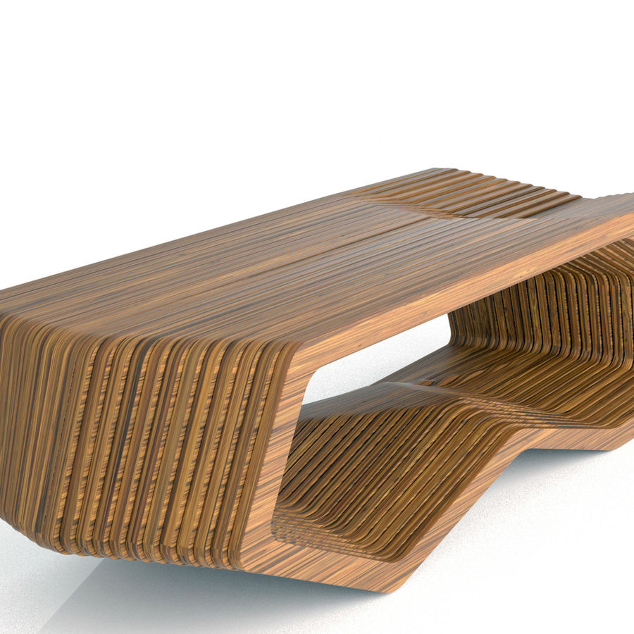Mesa W coffee table royalty-free 3d model - Preview no. 7