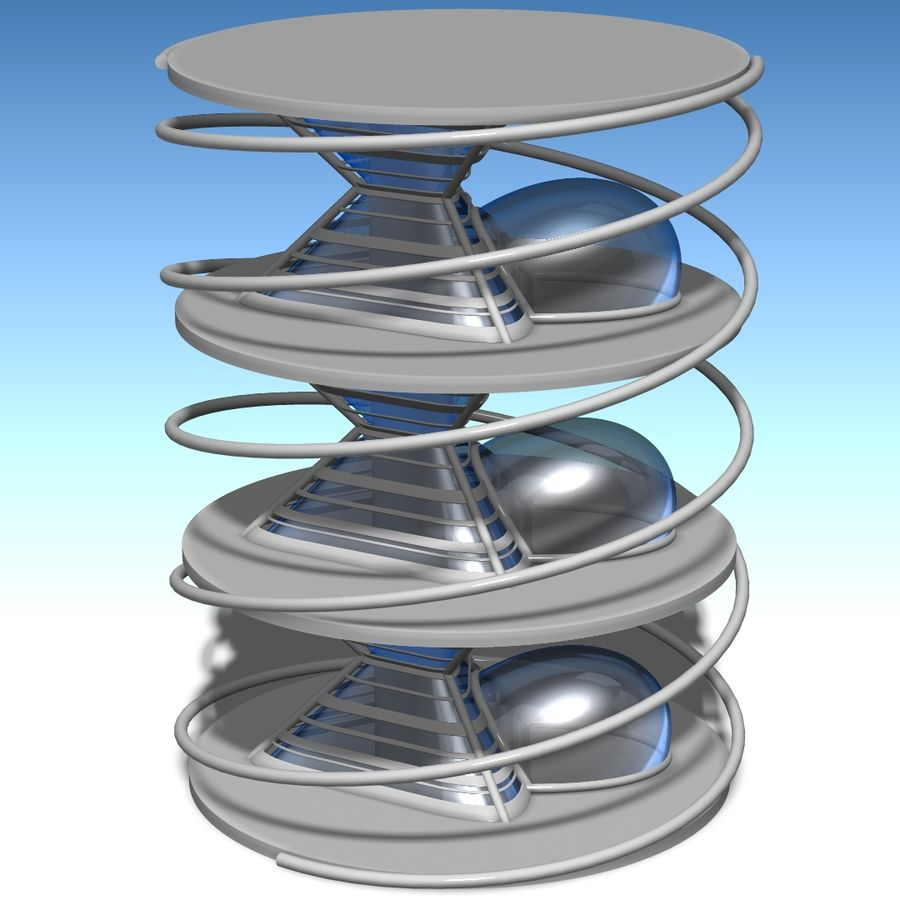 Futuristic building royalty-free 3d model - Preview no. 14