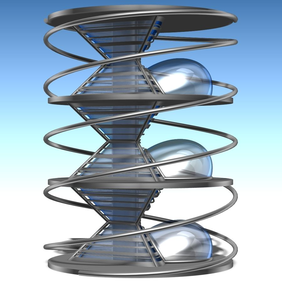 Futuristic building royalty-free 3d model - Preview no. 3