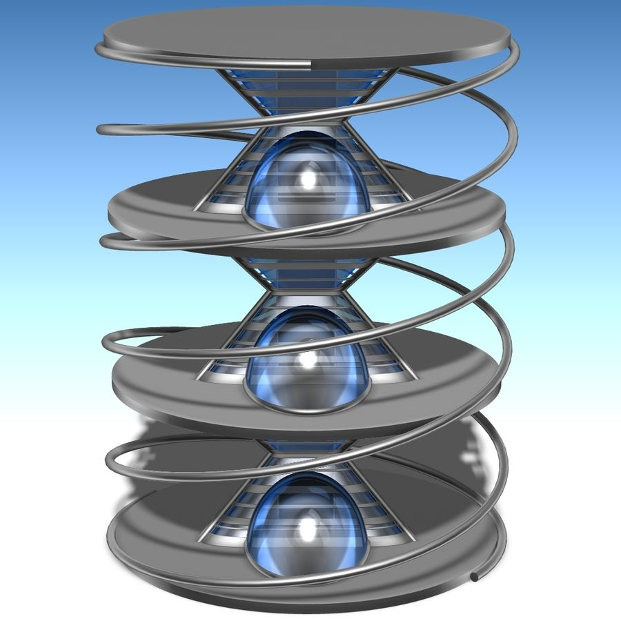 Futuristic building royalty-free 3d model - Preview no. 2