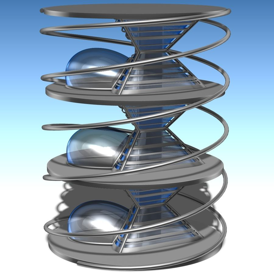 Futuristic building royalty-free 3d model - Preview no. 1