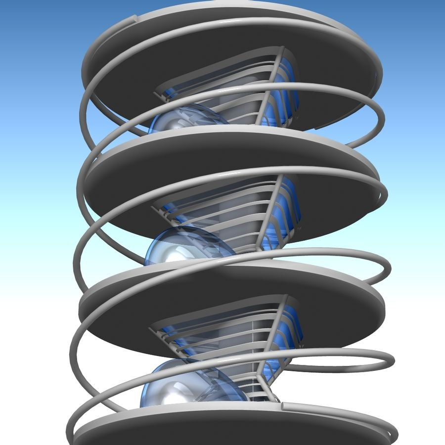 Futuristic building royalty-free 3d model - Preview no. 13