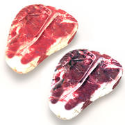 Porterhouse steaks raw and dry aged 3d model
