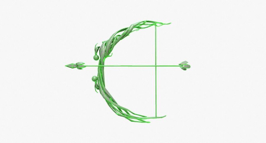 Fantasy Weapon - Bow royalty-free 3d model - Preview no. 17