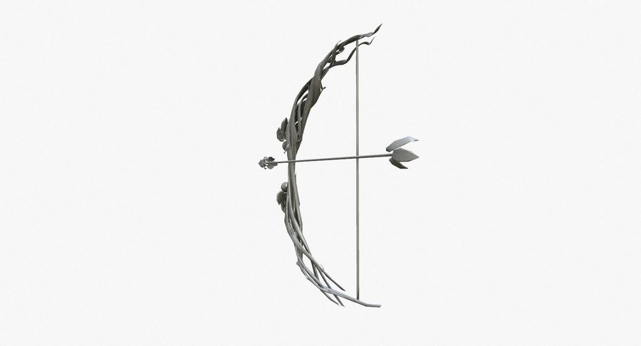 Fantasy Weapon - Bow royalty-free 3d model - Preview no. 2