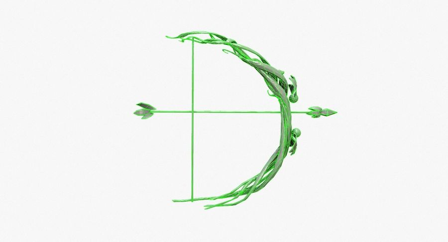 Fantasy Weapon - Bow royalty-free 3d model - Preview no. 13