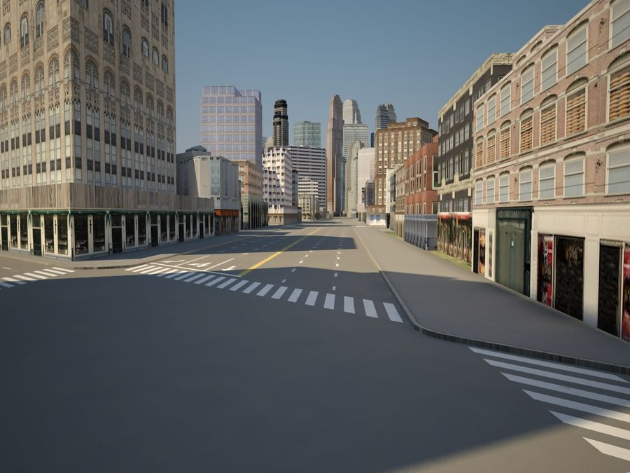 Huge City royalty-free 3d model - Preview no. 10