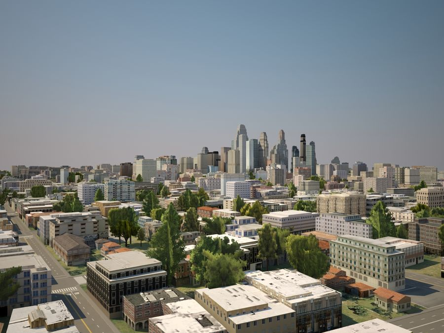 Huge City royalty-free 3d model - Preview no. 2